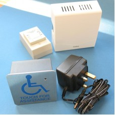 TouchCall - Disabled Access Alert System - Sense Through Glass, with Wired Chime