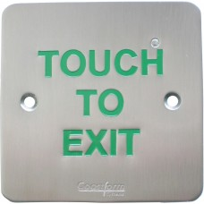 Touch-To-Exit, Wall Mount, No Graphic, Text Only